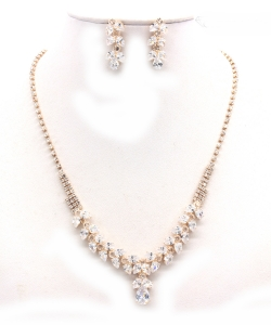 Crystal Rhinestone Jewelry Set for Women NB300625 GOLD CL