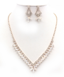 Crystal Rhinestone Jewelry Set for Women NB300626 GOLD CL