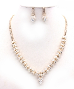 Crystal Rhinestone Jewelry Set for Women NB300627 GOLD CL