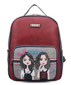 Nikky Frances Backpack NK10734 TWIN SISTERS