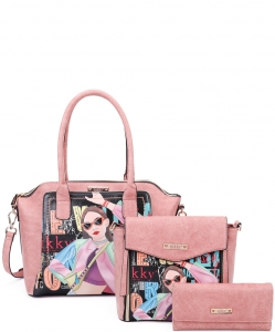 Nikky Vicky Does Sports Satchel 3pc set NK11027