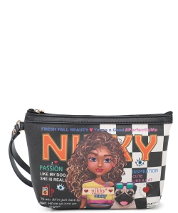 Nikky Aurelie Large Cosmetic Pouch NK20344 Cute Tiara Goes Dancing