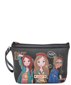 Nikky Aurelie Large Cosmetic Pouch NK20344 Girls Want to Have Fun