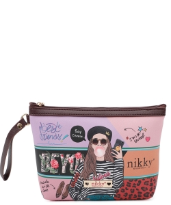 Nikky Aurelie Large Cosmetic Pouch NK20344 Love me Tender