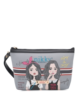 Nikky Aurelie Large Cosmetic Pouch NK20344 Twin Sister