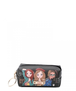 Nikky Small Rectangular Coinpurse with Key Ring NK21011 Girls Want to Have Fun