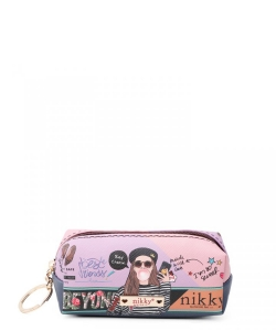Nikky Small Rectangular Coinpurse with Key Ring NK21011 Love Me Tender