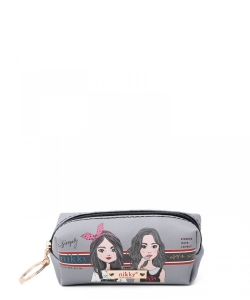 Nikky Small Rectangular Coinpurse with Key Ring NK21011 Twin Sister