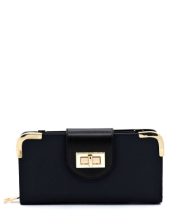 Nylo Turn Lock Crossbody Wallet NP041 NAVY