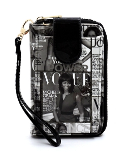 Magazine Cover Collage Phone case & Wallet OA072 GRAY/BLACK
