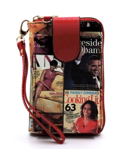 Magazine Cover Collage Phone case & Wallet OA072 MULTIRED