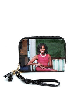 Magazine Cover Picture Zip Around Wallet Wristlet OB044D MTBLACK