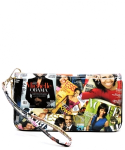 Magazine Fashion wallets OB706 BLACK