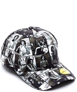Magazine Cover Collage Baseball Cap OC401 BLACK