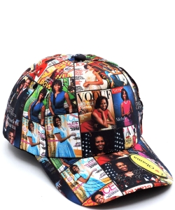 Magazine Cover Collage Baseball Cap OC401 MULTI