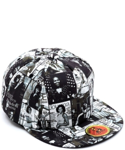 Magazine Cover Collage Baseball Cap OC405 BLACK