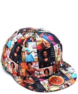 Magazine Cover Collage Baseball Cap OC405 MULTI