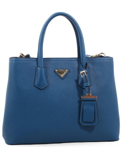 Triangular Logo Structured Saffiano Satchel OCK510617-1