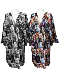6 pcs Magazine Cover Collage Kimono Gown OK112W Package
