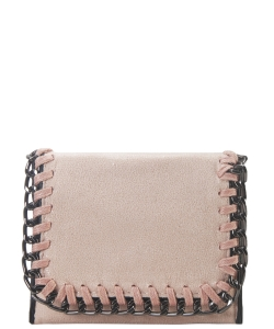 Chain Accent Mettalic Card Case Wallet OL-201 BLUSH