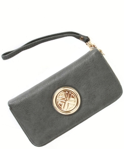 Gold Medallion Wristlet Bag OOE-W0095 SAGE