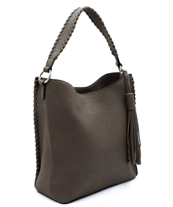 Fashion Pebbled Large Bucket Satchel OP2714 TAUPE