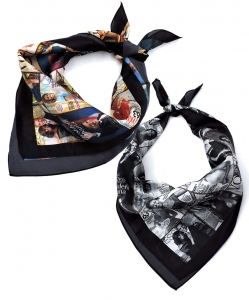 6 Pcs Magazine Cover Collage Bandana Scarf OS801