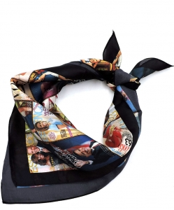 Magazine Cover Collage Bandana Scarf OS801 MULTI
