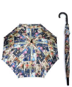Magazine Cover Collage Auto Umbrella OU501 MULTI