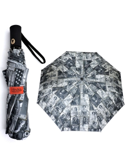 Magazine Cover Collage Auto Umbrella OU502 BLACK