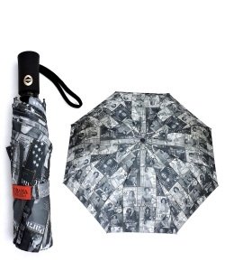 Magazine Cover Collage Auto Umbrella OU503 BLACK