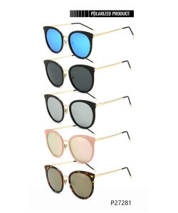 1 Dozen Pack of Designer inspired Women's Fashion Polarized Sunglasses P27281
