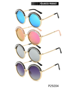 1 Dozen Pack Designer Inspired Womens Polarized Fashion Sunglasses P29204