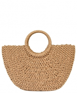 Fashion Straw Round Top Handle tote PB00181