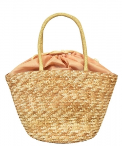 Fashion Straw Round Top Handle tote PB00191