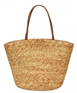 Fashion Straw Round Top Handle tote PB00201