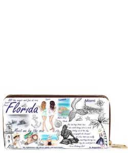 OH Fashion Wallet Florida Vibes  PROH-AC1334