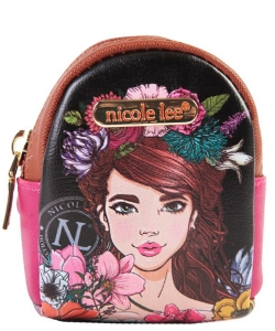 Nicole Lee Mini Backpack Keychain PRT6622 HT