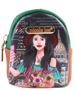Nicole Lee Mini Backpack Keychain PRT6622 YLS