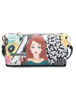 Nicole Lee Printed Shoulder Wallet PRT6906 Catch me if you can