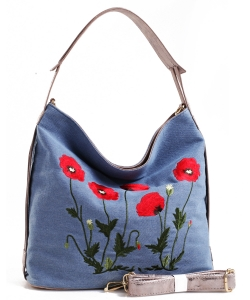 Denim Vegan Hobo Bag PS1597