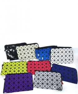 12pcs  Laser Diamond Lattice Geometric Clutch Handbag