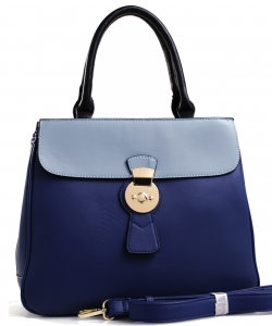 PW-1378 DBL Two Tone Fashion Handbag