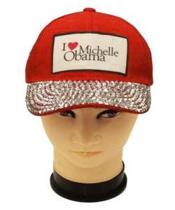 Obama Rhinestone Bling Cap QC401A RED