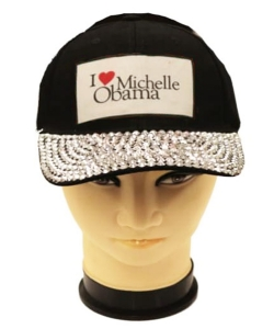 Obama Rhinestone Bling Cap QC401AM BLACK