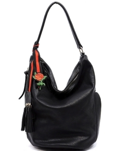 Fashion Bucket Shoulder Bag QW1386 BLACK