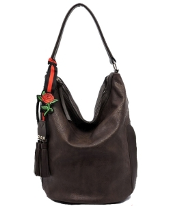 Fashion Bucket Shoulder Bag QW1386 COFFEE