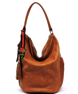 Fashion Bucket Shoulder Bag QW1386 LBROWN