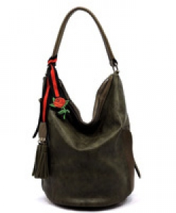 Fashion Bucket Shoulder Bag QW1386 OLIVE