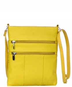 Genuine Leather Messenger Bag RM011 37285 Yellow